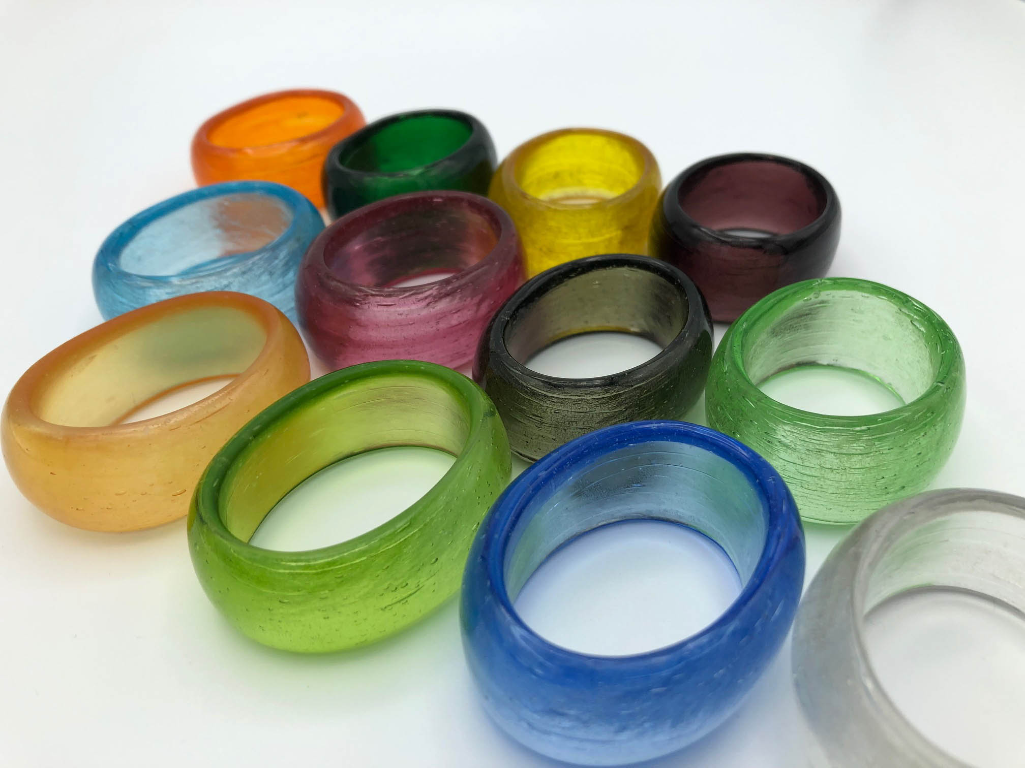 napkin rings colorful
