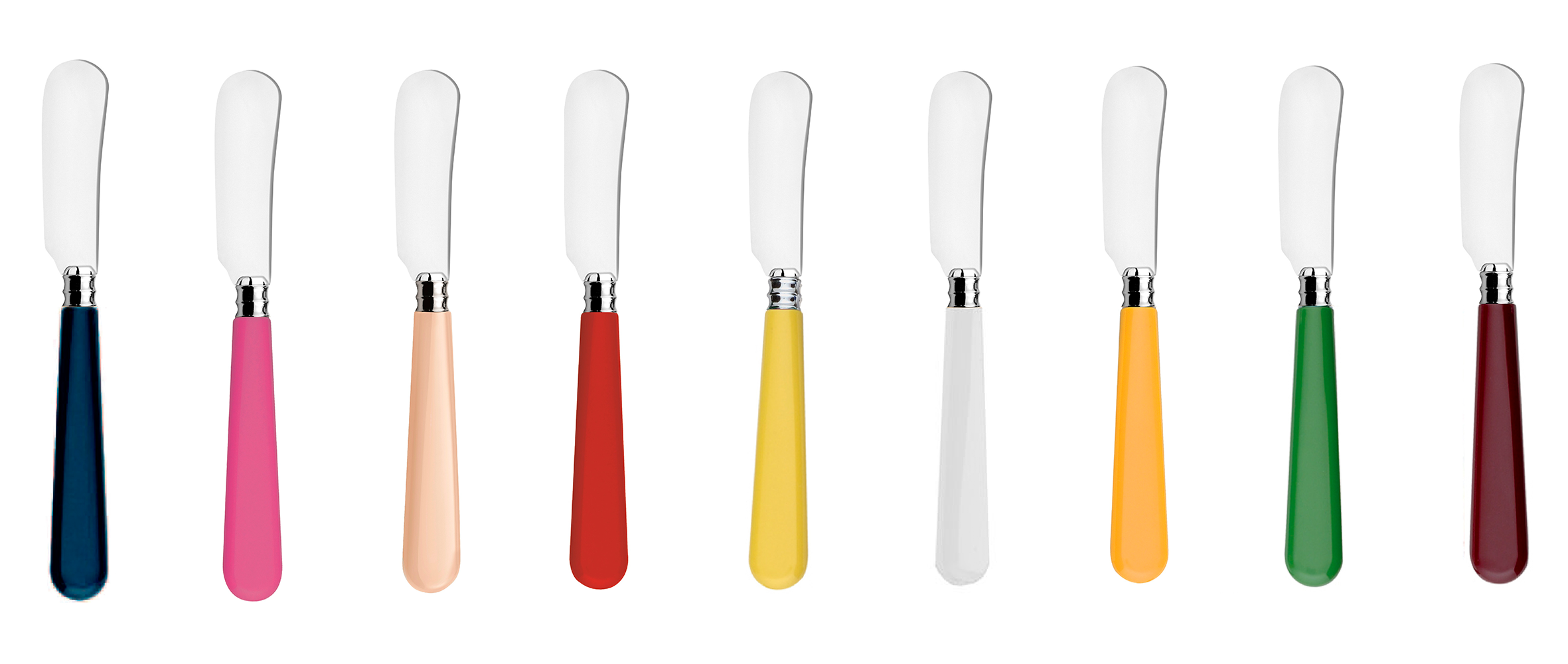 colorful butter knives
