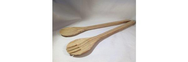 Bambus-Salatbesteck