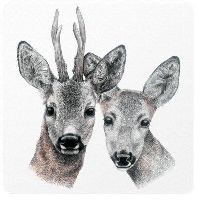 coaster roe deer
