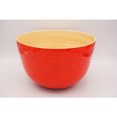 Bambusschale Orange matt