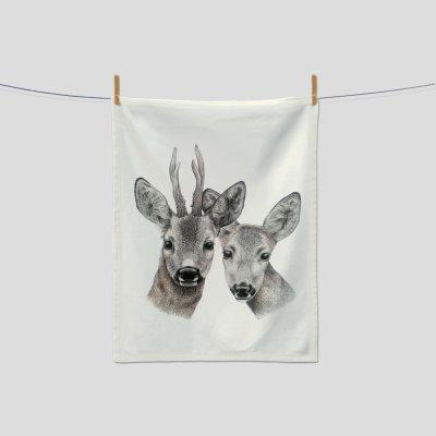 kitchen towel roe deer