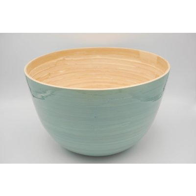 Bamboo bowl ice blue mat