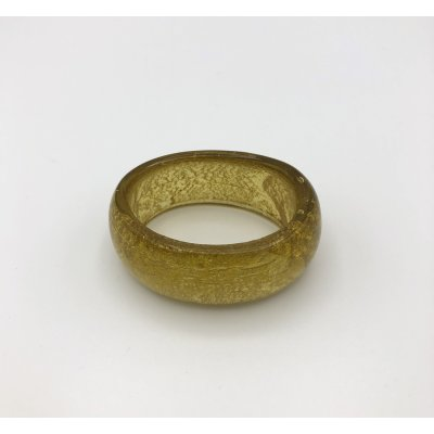 napkin ring glass gold