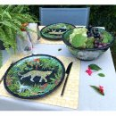 melamine salad bowl deep jungle
