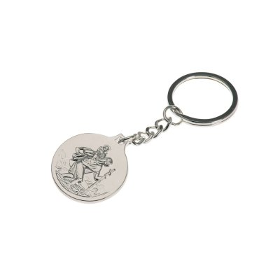 Keyring Heart keychain silver plated