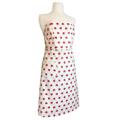 Apron Red Hearts