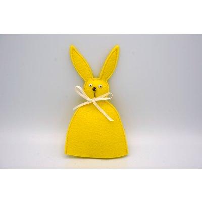 bunny egg cozy lemon yellow