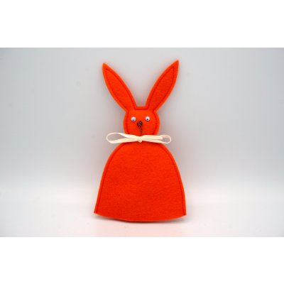 bunny egg cozy orange
