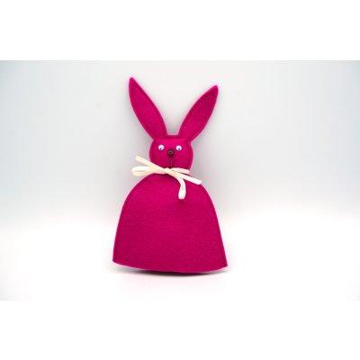 bunny egg cozy raspberry