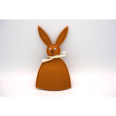 bunny egg cozy light brown