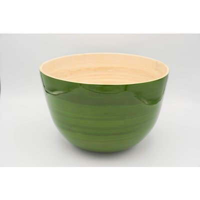 Bamboo bowl green mat