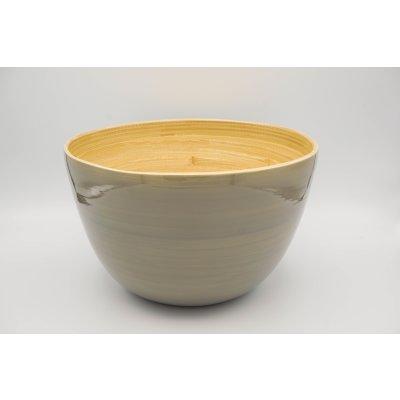 Bamboo bowl grey mat