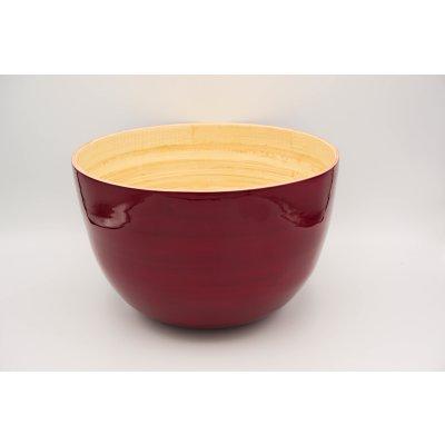 Bamboo bowl red mat