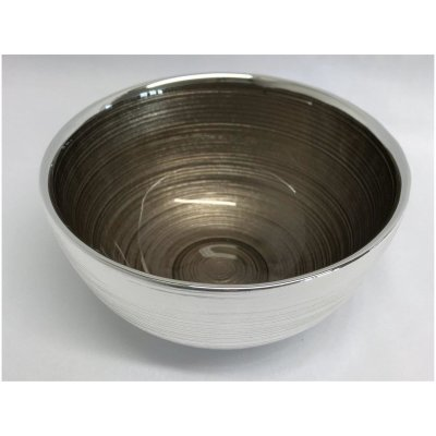 Silver bowl Sinfonia brown