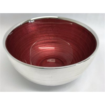 Silver bowl Sinfonia red