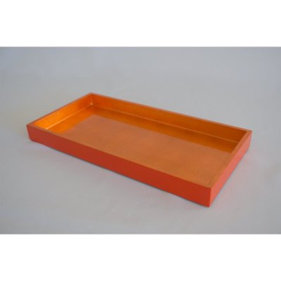 Lacquered tablet orange impact metal