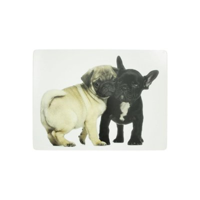 Cork Placemat Pug & French Bulldog Set of 4