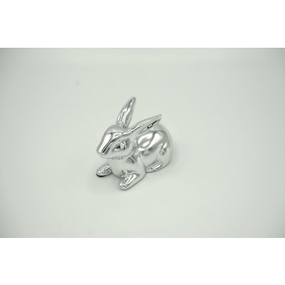 Deco bunny silver plated Child