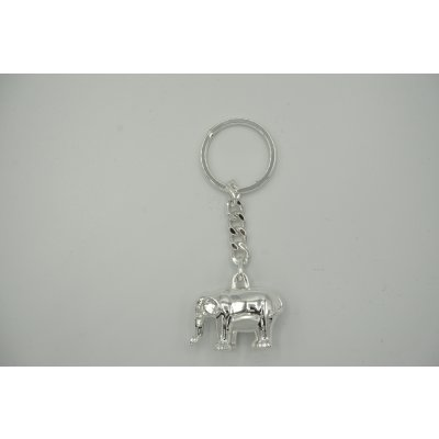 Keyring Elephant keychain silver plated