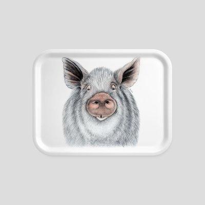 tray wild boar beech wood melamine