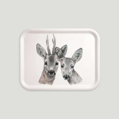 tray roe deer beech wood melamine