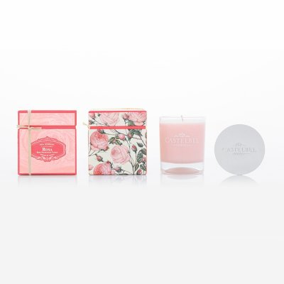 Scented aromatic candle Rose