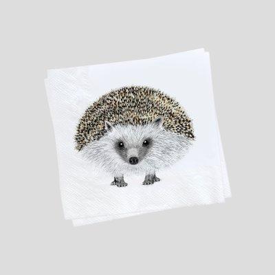 paper napkin hedgehog