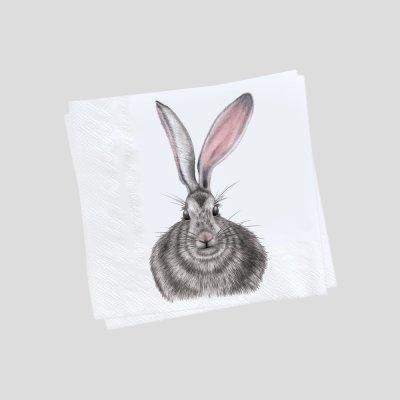 paper napkins hare henrietta